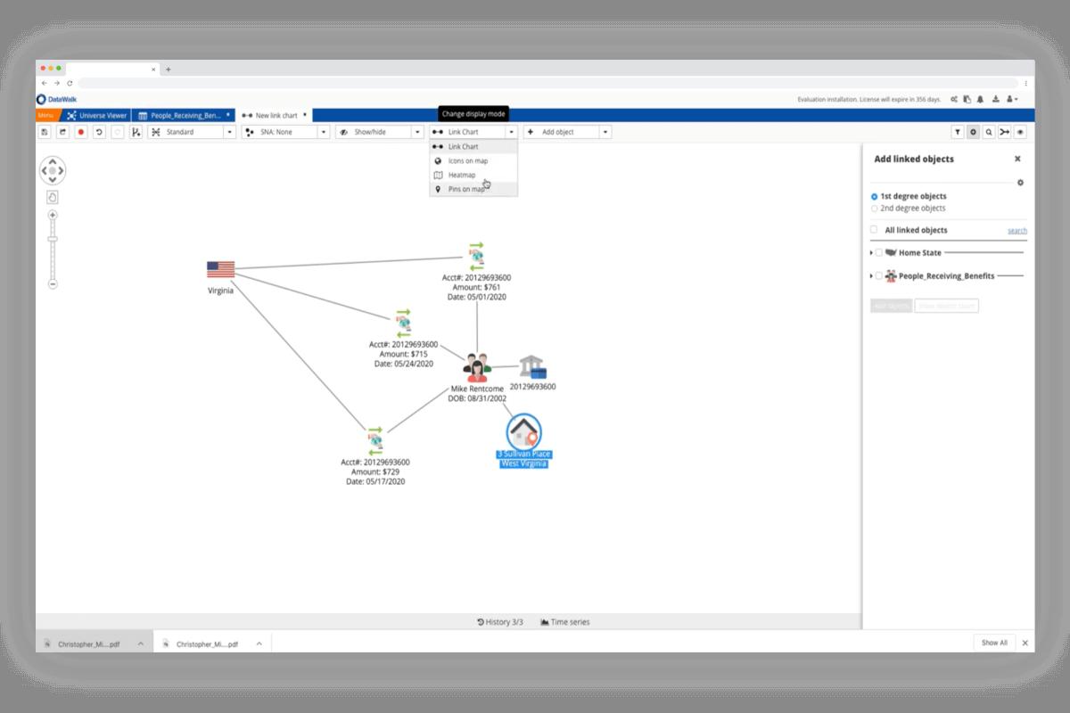 DataWalk link chart