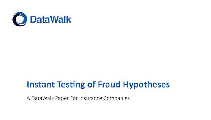 DataWalk Instant Testing of Fraud Hypotheses