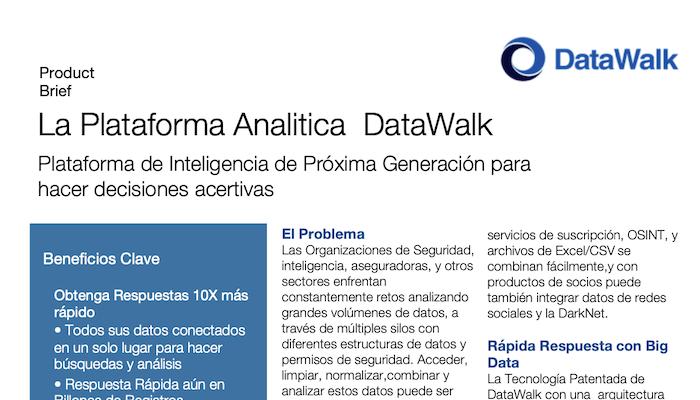 DataWalk - Product Brief - Espaniol