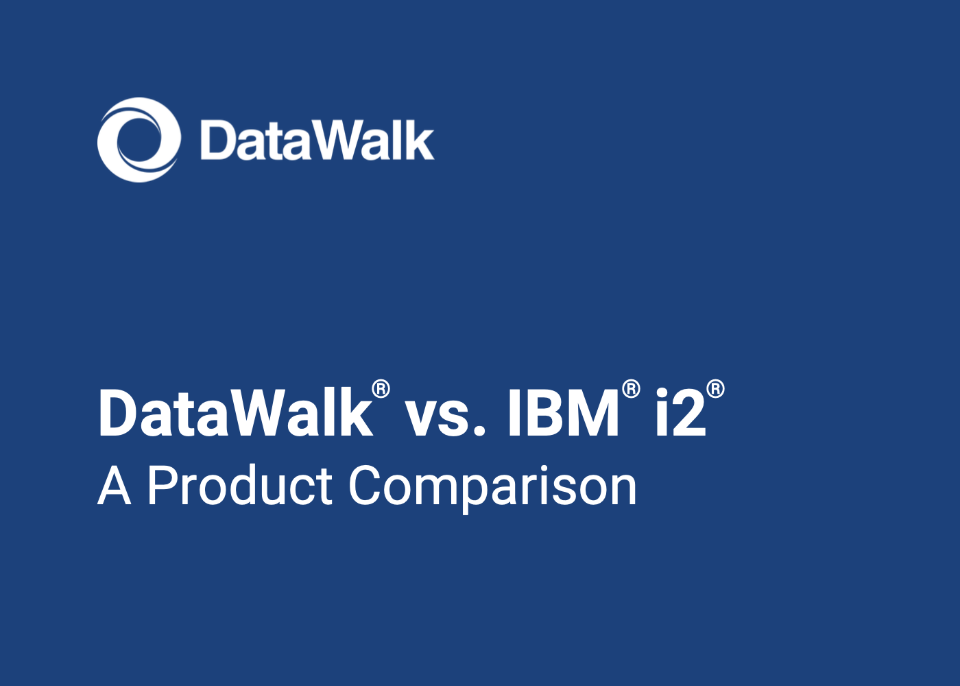 DataWalk vs IBM i2