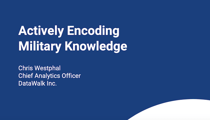 Actively Encoding Military Knowledge