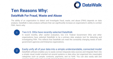 DataWalk For Fraud, Waste and Abuse