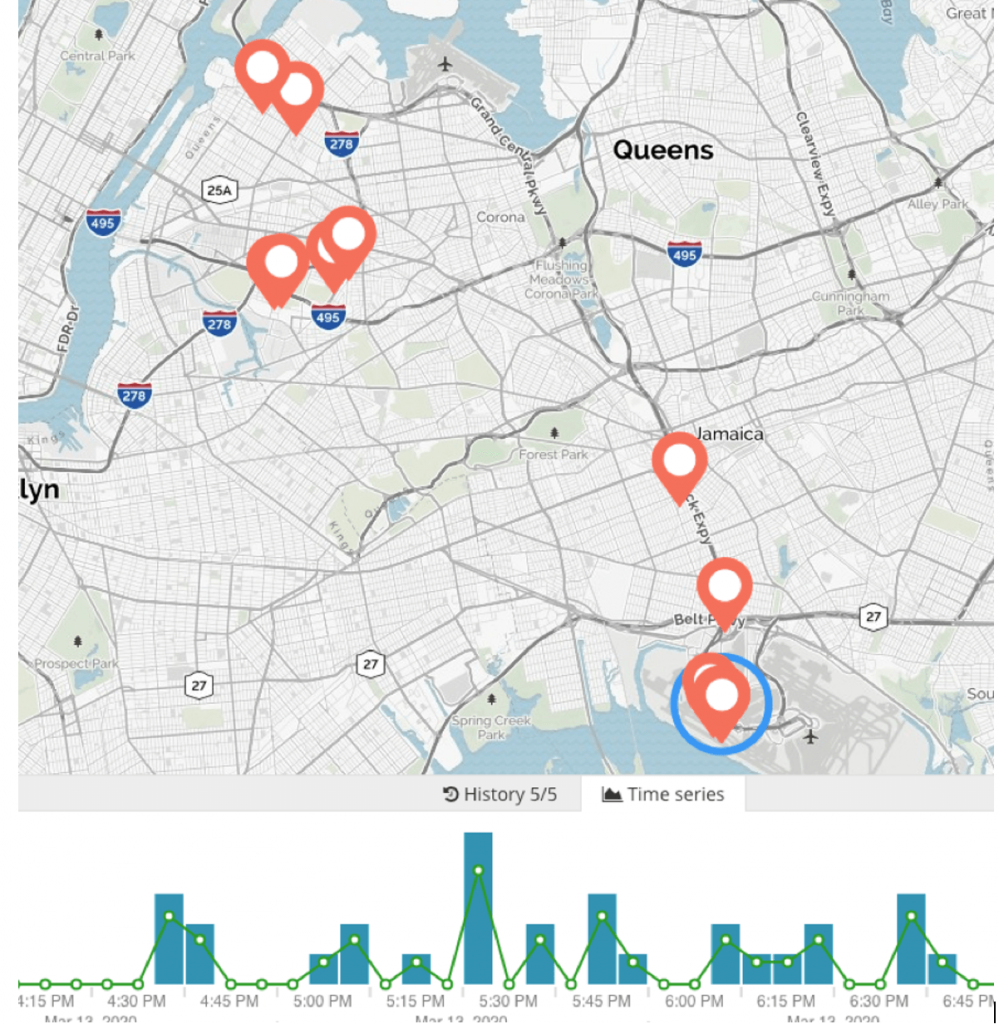 Figure 32. Extending the link analysis with further geospatial analysis