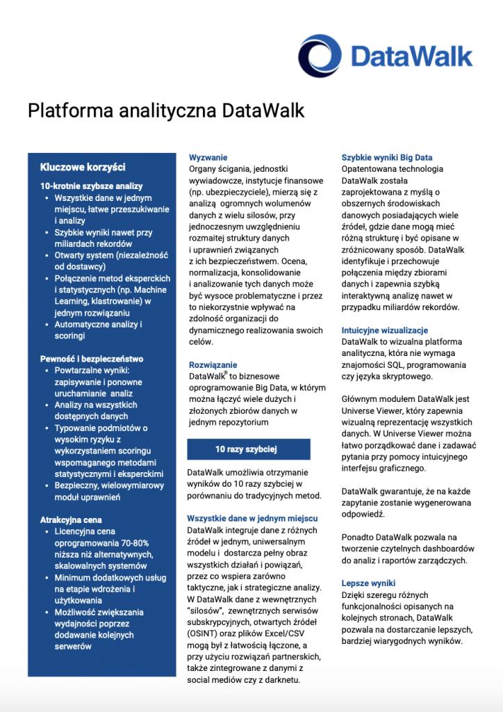 DataWalk - opis produktu